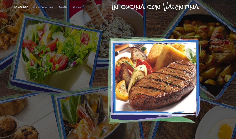 """food blog di successo """" in cucina con valentina """" con fantastiche ricette"""